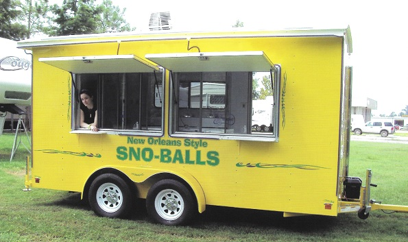 concession trailer outside view windows open - Snow Cone Machine For Sale
