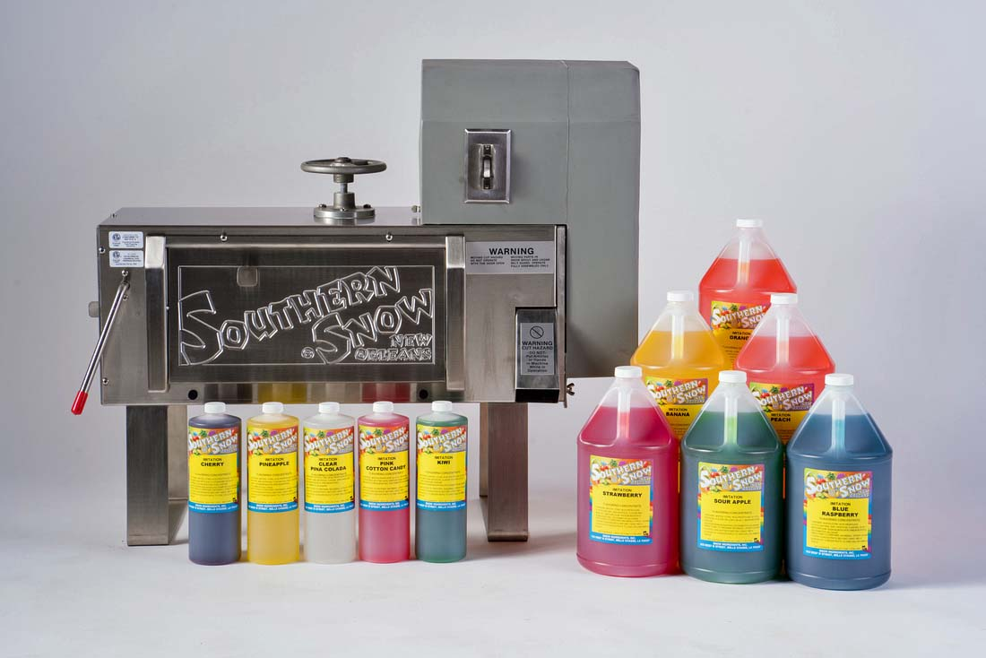 southern snow snow ball machine and syrups - Commercial Snow Cone Machine